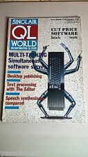 Sinclair QL World Magazine ~ Jan 1987 ~ Computer Articles ~ GOOD CONDITION
