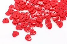 Mini Red Heart Button Small Heart Shaped Baby Children Button DIY 10mm 20pcs