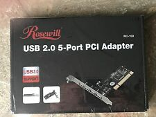 Rosewill RC-103 - 4 + 1 USB 2.0 PCI Adapter (Four External + One Internal Ports)