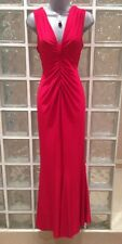 NEW Wallis Red Ruched Back Slinky Dress, 10 Uk