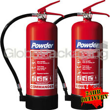 2 x 6KG DRY POWDER ABC FIRE EXTINGUISHERS WAREHOUSE OFFICE INDUSTRIAL