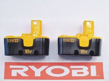 (2) NEW RYOBI ONE PLUS 18v VOLT COMPACT NICAD BATTERY PACK BATTERIES P100