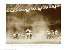 NY GIANTS GREEN BAY PACKERS The Championship Game 1962 Robert Riger Print Poster