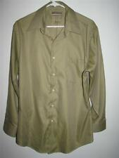VAN HEUSEN PIQUE WRINKLE FREE FITTED LONG SLEEVE BUTTON FRONT SHIRT 16 32/33