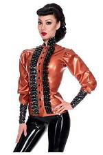 R1773 Rubber Latex Blouse shirt size 8 PEARLSHEEN BRONZE Westward Bound
