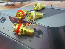 4x Taiwan Gold Plated RCA Socket Chassis Female Audio Beryllium Copper center