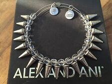 RARE ALEX and ANI CRYSTAL SPIKE of CREATIVITY BEADED BANGLE Silver BRACELET