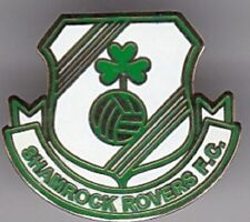 SHAMROCK IRISH SHIELD  EIRE IRELAND DUBLIN ROVERS FOOTBALL BADGE