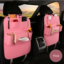 Car Seat Cover High-Grade Wool Seat Back Storage Bag Seat Back Organizer Pink
