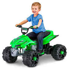 Sport ATV 12V Battery Powered Ride-On, Green Toy Wheel Car Fun