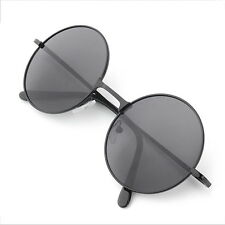 Vintage retro classic metal circular Men Women Sunglasses   QR