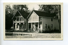 Northampton MA Mass RPPC real photo Westfield Cottages, Laurel Park, old car