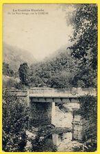 cpa 19 - LAVAL sur LUZÈGE (Corrèze) Le PONT ROUGE