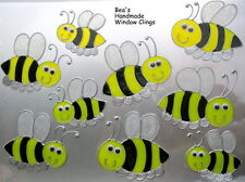 BEA'S FUNKY BUMBLE BEES WINDOW CLINGS NURSERY TILE MIRROR  DECALS