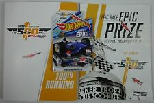 2016 Indianapolis 500 100th Running Program w / Starting Line-Up Hot Wheel Car