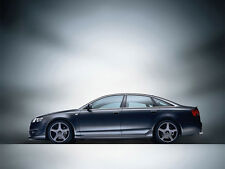 AUDI A6 C6 SIDE SKIRTS  A_T LOOK  MADE IN UK  SALOON OR ESTATE