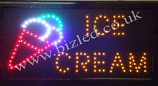 Flashing  ICE CREAM  catering food led new  window Shop signs