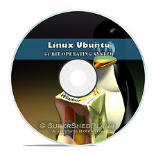 Linux Ubuntu 64 Bit 2016 Operating System DVD 16.04, Easy Windows Replacement OS