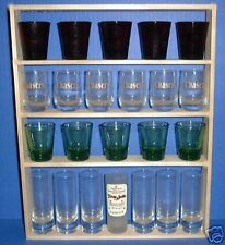 SHOT GLASS 22 Shot Glass Display Case / Rack -Shelf -Item # 141