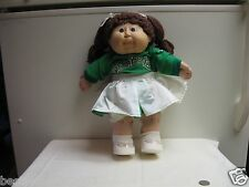 CABBAGE PATCH KID BROWN HAIR BLUE EYES CHEERLEADER 86 PINK BUTT SIGNATURE INV