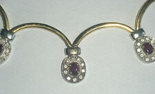 18ct Gold Ruby and Diamond Festoon Collar Necklace