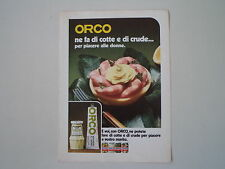 advertising Pubblicità 1970 MAIONESE ORCO