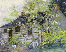 Baker Herbert George Barn With Chickens Print 11 x 14     #4596