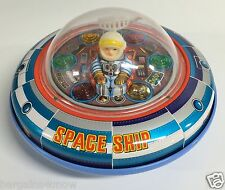 VINTAGE SPACE SHIP X-5 BATTERY OPERATED MASUDAGA JAPAN USED