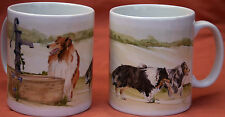 ROUGH COLLIE DOG MUG Off to the dog show Sandra Coen artist sublimation print