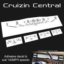 Plastic WHITE DECALS Holden Kingswood HK GTS gauge dash speedo adhesive