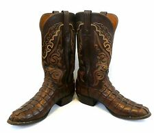 LUCCHESE 2000 Handmade Alligator & Leather SIZE 10 D Pair of COWBOY BOOTS
