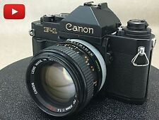 Canon F1-N 35mm SLR Film Camera with FD 50mm f/1.4 s.s.c Free Shipping! From JPN
