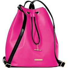 New Juicy Couture Drawstring Cerise & Black Bag With Backpack Straps