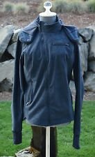 LULULEMON 'KEEP IT UP' JACKET COAT WOMEN'S HOODED SOFT SHELL INKWELL BLUE - 8