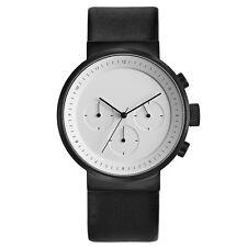 """Projects Watches """"Kiura White"""" Chronographe Quartz Acier Noir Blanc Homme Montre"""