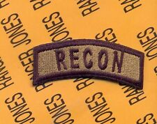 US ARMY RECON Infantry Cavalry Reconnaissance OD Green tab patch reversed