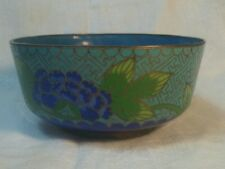 Copper enamel bowl with Asian design
