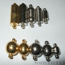 MIX OF10 GOLD & SILVER COLOUR MAGNETIC  CLASPS CONNECTOR GOOD  MAGNET MC04