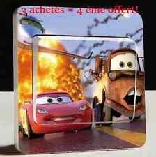 """Autocollant Interrupteur """"CARS"""" Switch Sticker Déco Murale Chambre Enfant Garçon"""