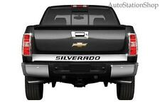 "2014-2015 Chevy Silverado Tailgate Accent Trim 4 1/2"" ""SILVERADO"" outline"