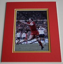 Ronnie Whelan Signed Autograph 10x8 photo mount display Liverpool Football COA