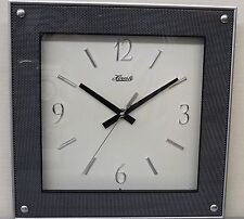"CONTEMPORARY LOOKING SQUARE  11.75"" WALL CLOCK MADE BY THE HERMLE CLOCK COMPANY"