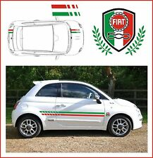 FIAT 500 ITALIAN STRIPES WITH RACING CREST - FIT THE BEST!  DESIGNER STRIPES