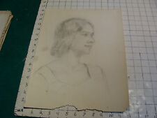 vintage Drawing:  YOUNG LADY