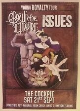 CROWN THE EMPIRE + ISSUES official GIG POSTER promo print fallout resistance