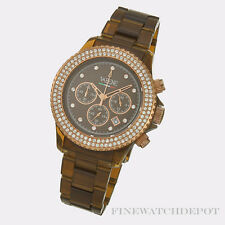 Authentic Vabene Chronograph Cappucino Rose Gold bezel 41mm Watch CH913
