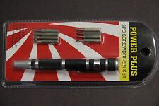 Precision Mini 9PCS Phillips SLOTTED TORQUE Bits Screwdriver Pen Repair Tools bk