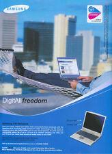 Samsung X10 Notebook 2003 Magazine Advert #3173