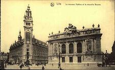 LILLE CPA ~1910 Frankreich Partie an d. neuen Börse mit neuem Theater alte AK