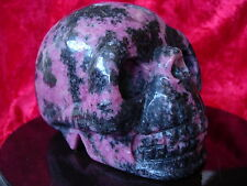 Crystal skull large rhodonite cs2